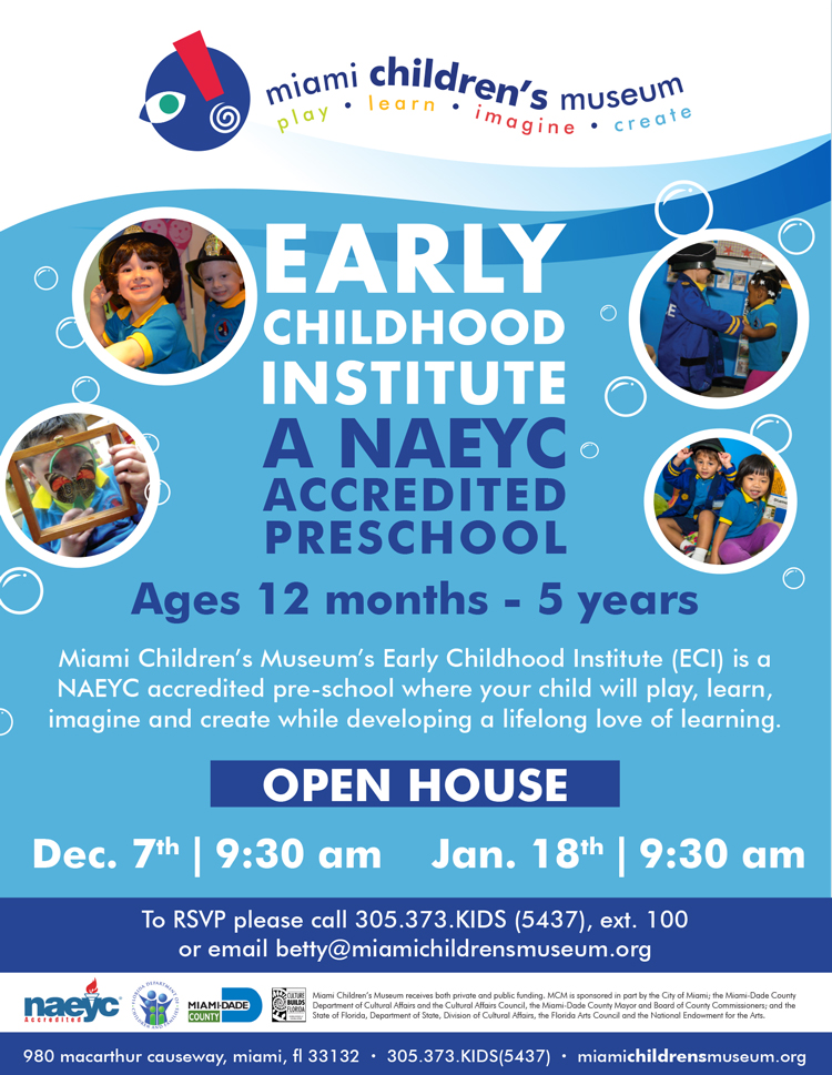 Miami Chidlren's Museum Early Childhood Institute Open House
